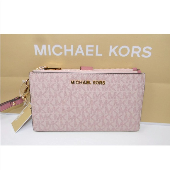 c34a43195bda Michael Kors Bags | Nwt Jet Set Travel Double Zip Wallet | Poshmark